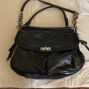 Coach limited edition black handbag.